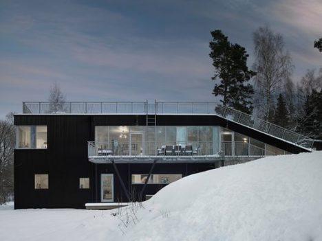 sledding hill house