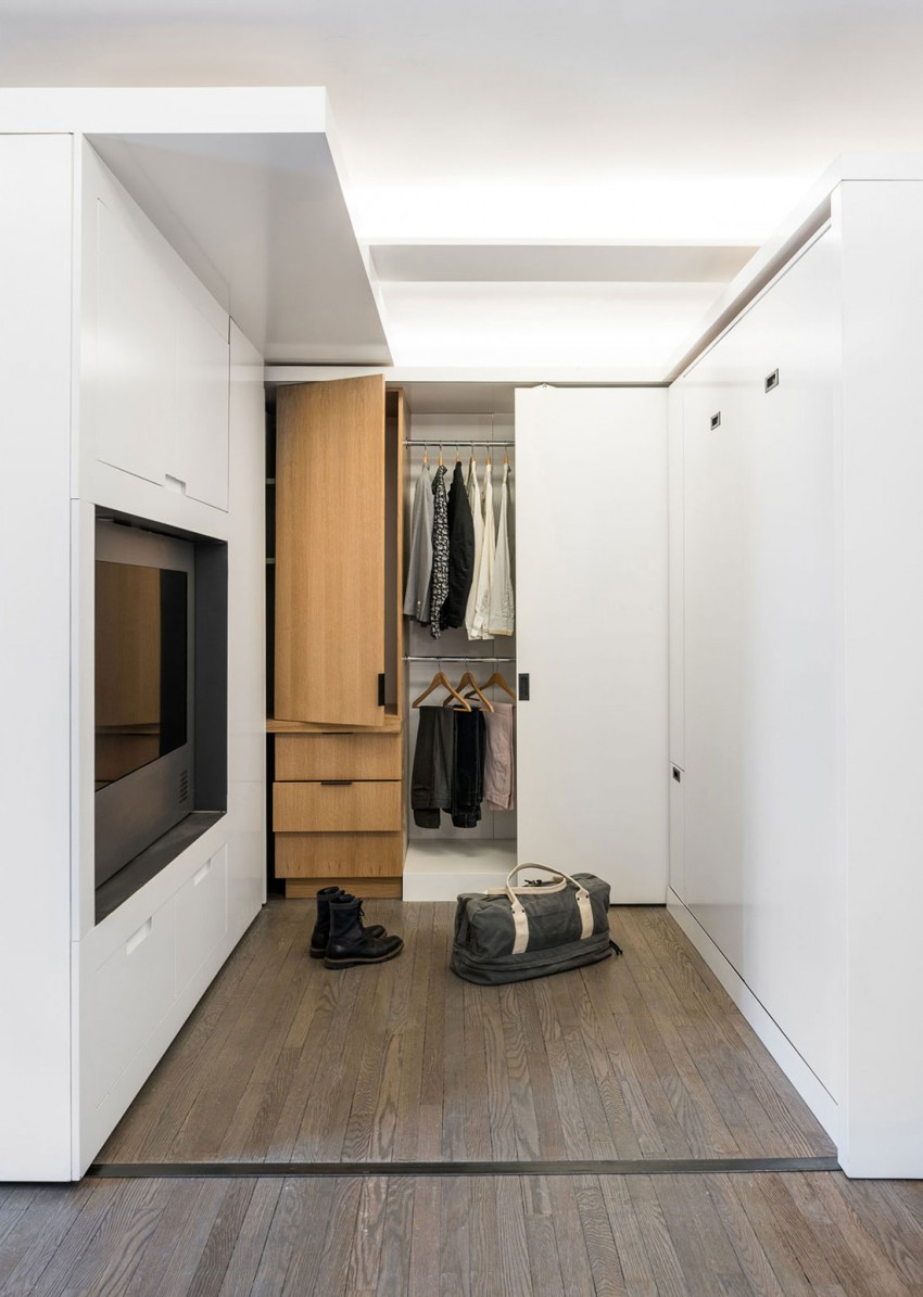 Adaptable Apartment Sliding Wall Transforms Small Space