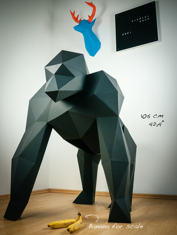 New Papertrophy giant gorilla