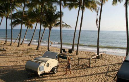 Gidget Retro Camper at the beach