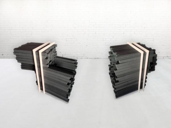 foam chairs keren shiker sculptural shapes