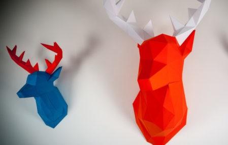 Papertrophy Deer Heads