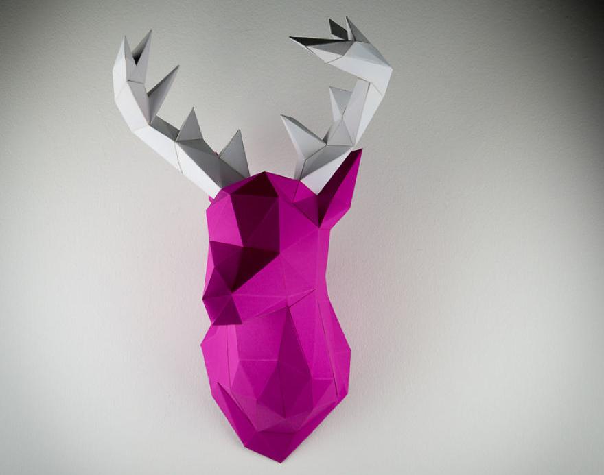 Papertrophy Pink Elk