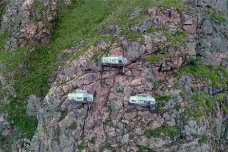 Cliff dwellings: Skylodge Adventure Suites