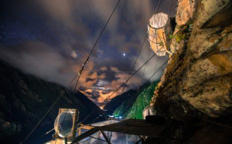 Skylodge Adventure Suites at night