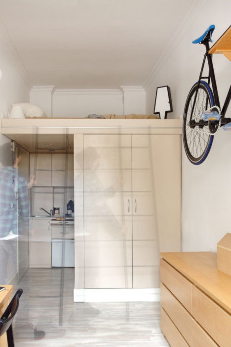 Smart design packs a whole apartment into 140 square feet for 140 square feet room