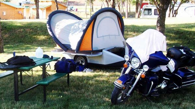 Ultralight Tent Trailer Follows Your Motorcycle or Small ...
