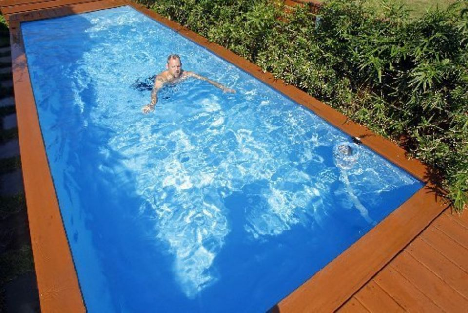 Dumpster Diving: DIY Pool Made From a Reclaimed Waste Container