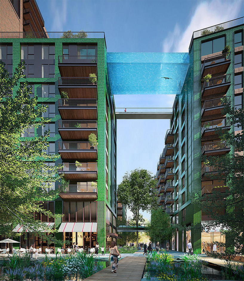 Dual 24 Story Apartment Towers Debut At 8th Spring: Sky Swimming: Glass-Bottomed Pool Bridges Apartment