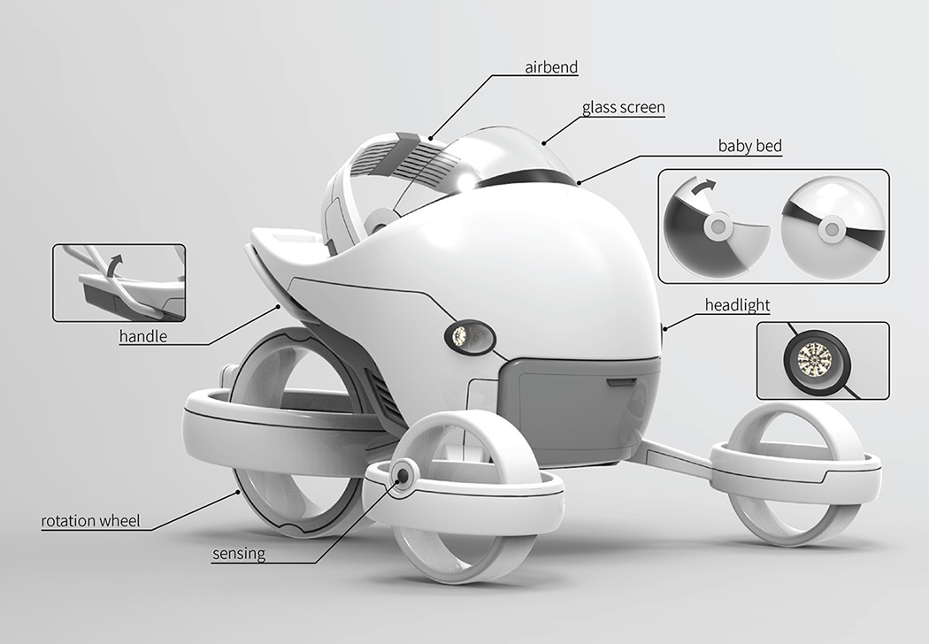 Strollever: Futuristic Stroller for Space Babies | Designs & Ideas on Dornob