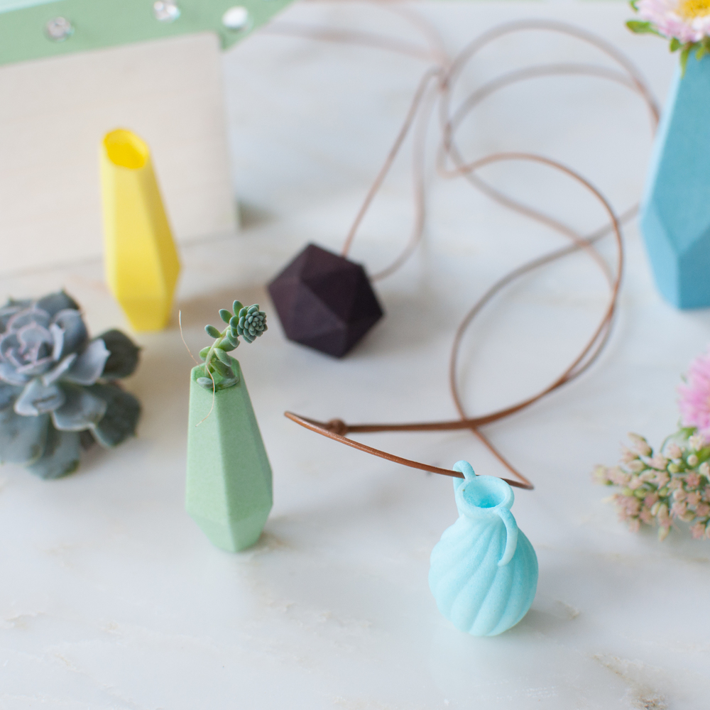 Wearable Planters 3D Printed Jewelry