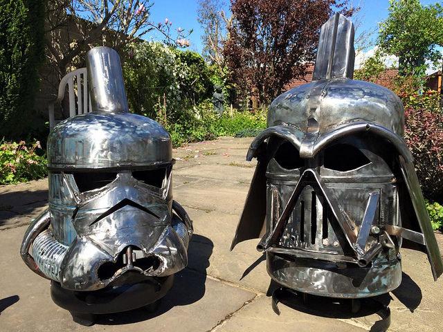 Darth Vader Fire Pits