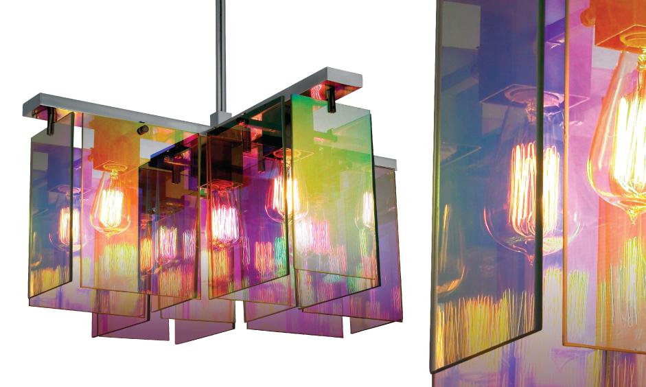 Dichroix-5-Light-Square-Pendant