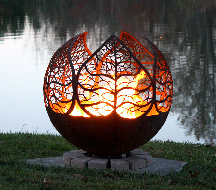 Autumn Leaf Fire Pit Sphere
