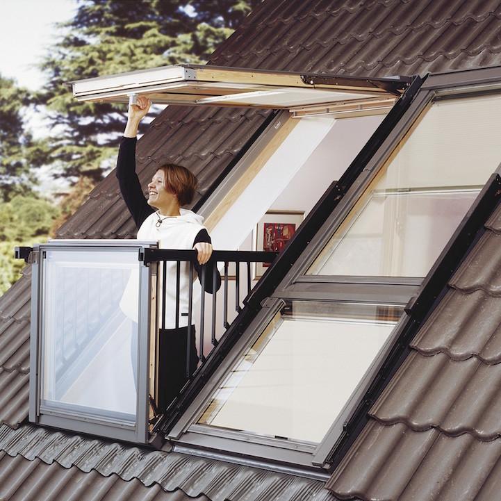 pop up balcony attic window transforms into outdoor space. Black Bedroom Furniture Sets. Home Design Ideas