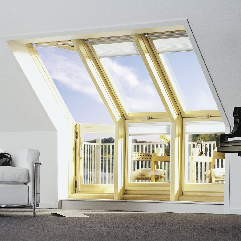 Attic Window Transforms Into Pop Up Balcony Designs