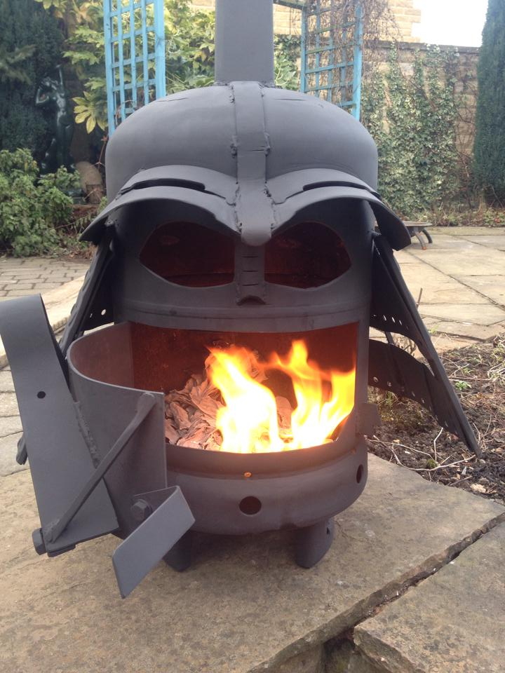 darth vader fire pits. Black Bedroom Furniture Sets. Home Design Ideas