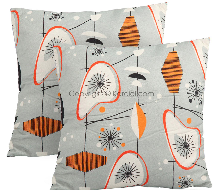 Mid-century mod Kardiel pillows