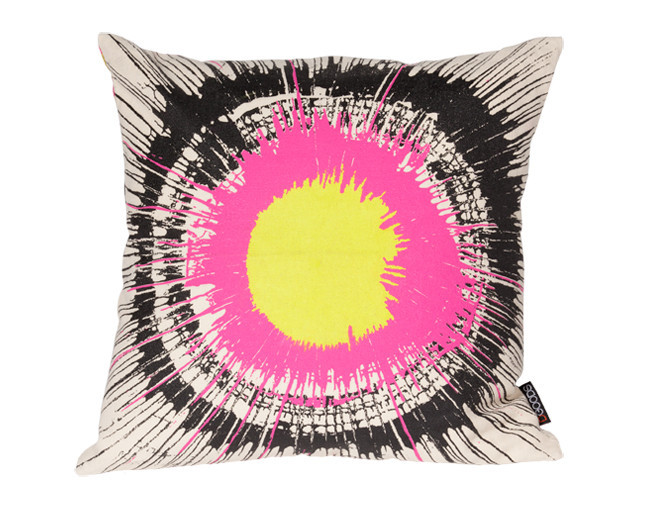 Modern Boho Graphic Hemp Pillow