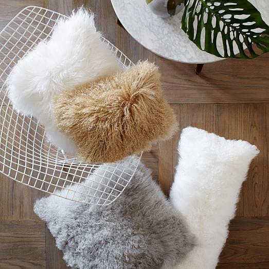 Mongolian Lamb pillows