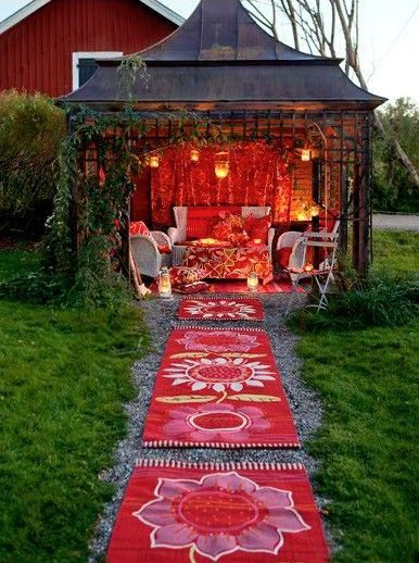 A boho She Shed, iamge via Pinterest