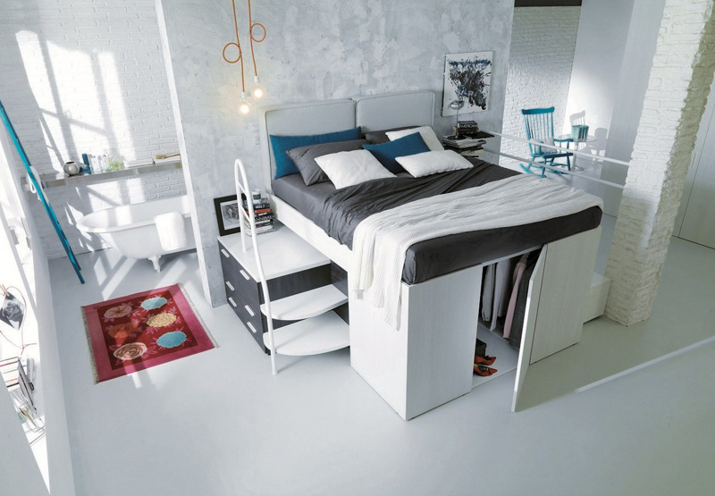 space beds intended saver for underneath smart in saving walk double bed hides closet a