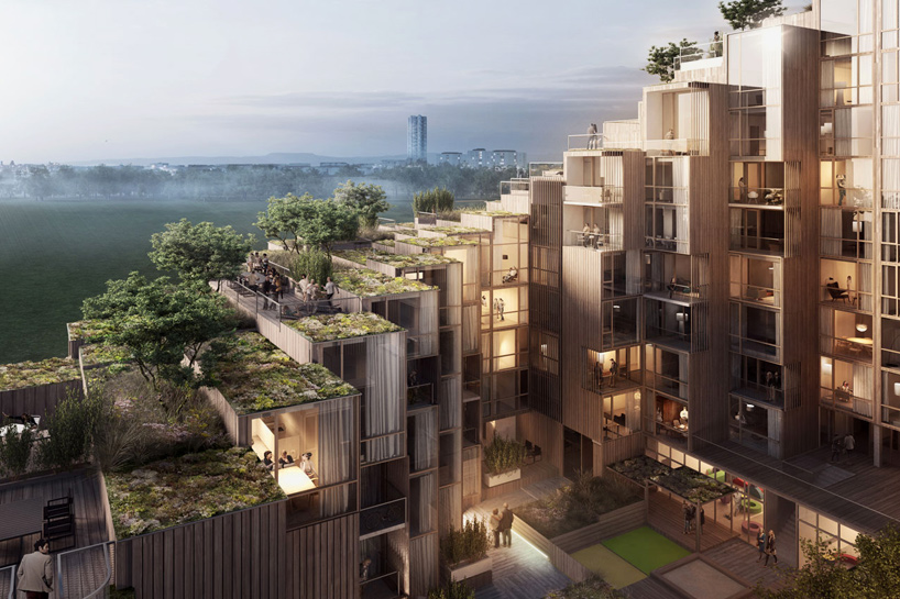 Step by Green-Roofed Step: Terraced Apartment Tower Offers ...