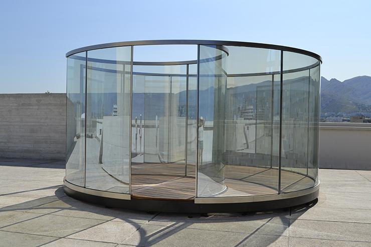 Dan Graham Two Nodes Glass Pavilion