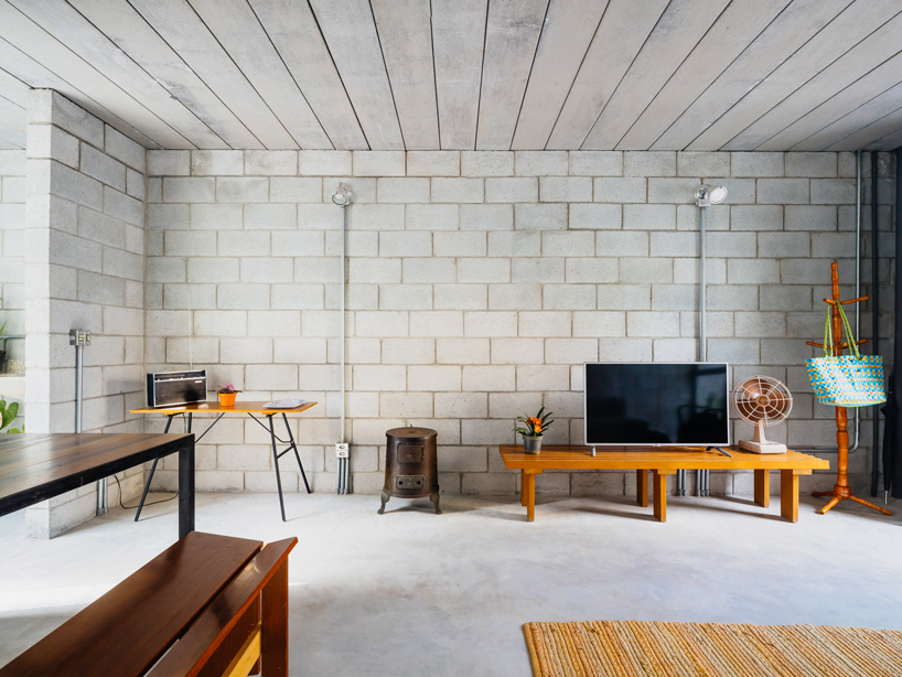 Beauty On A Budget In Brazil LowCost Concrete Block House - Low budget house interior design