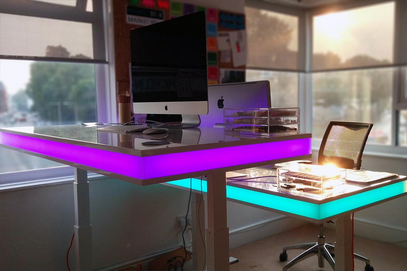Funky Dining Room Chairs Tableair Smart Desk Changes Height Via Sensing Module