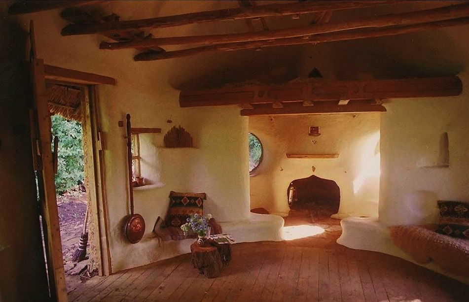 Interior of the Cob House