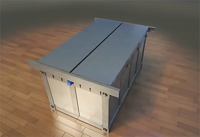 The Earthquake Bed entombs the user inside a safe survival box