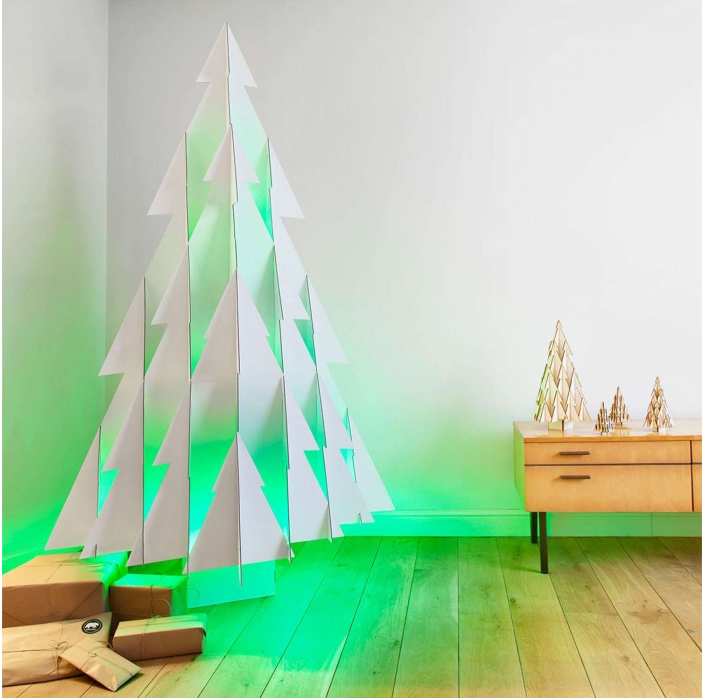 Oh Christmas Tree! How About Cardboard and Wood?