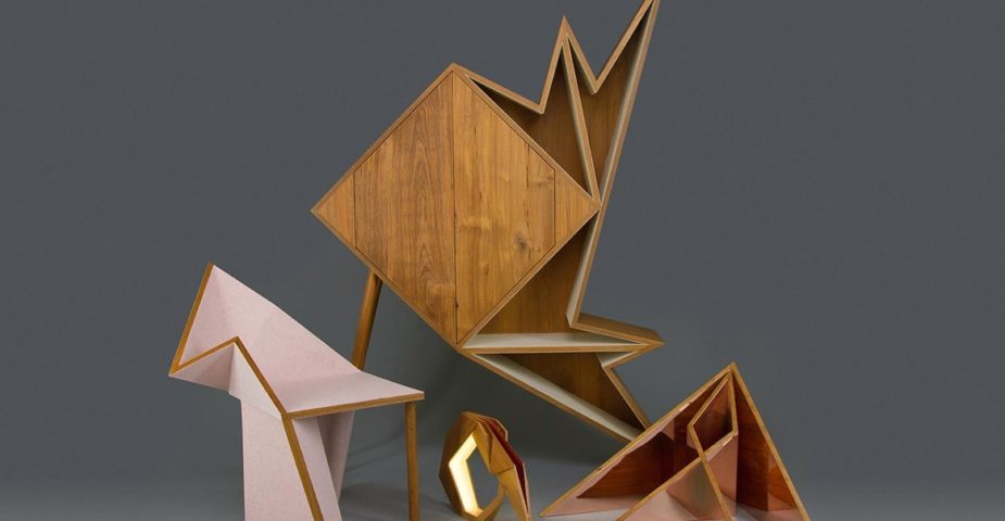 The Oru Series of geometric furniture