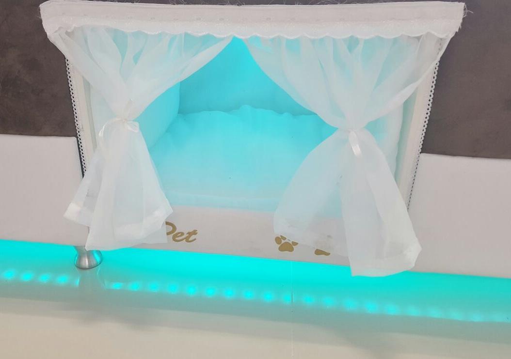 pet-bed-blue-lights
