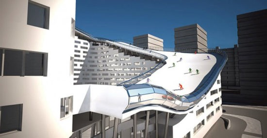Apartment complex with ski slope in Kazakhstan