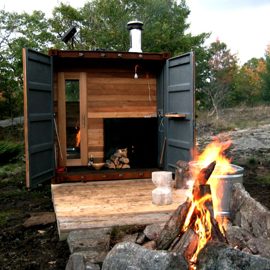 Wood-fired Sauna Box by Castor