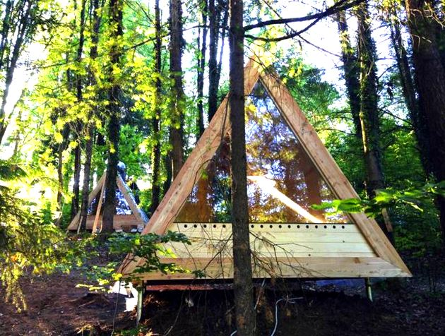 Glamping in style: Lushna Villa Air tent / cabin / hut