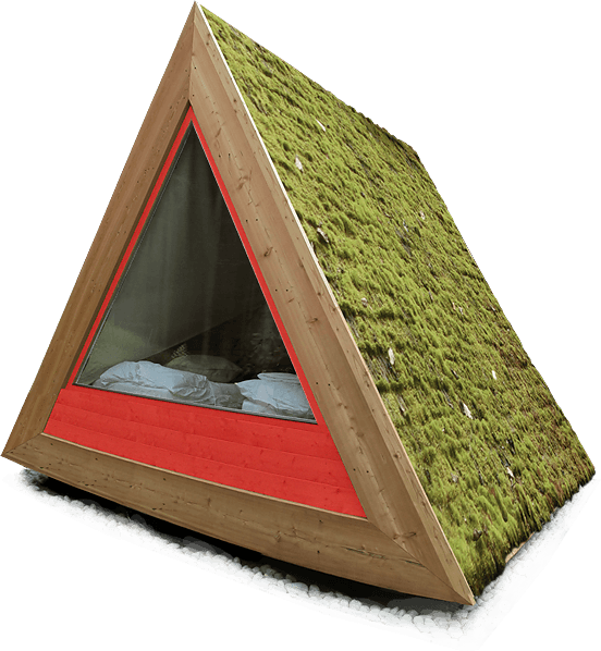 The Lushna Villa Air cabin with a green roof  sc 1 st  Dornob & Lushna Villa Air Tent: Glamping in Style