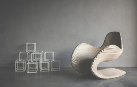 The Betula Chair, made of bitch ply