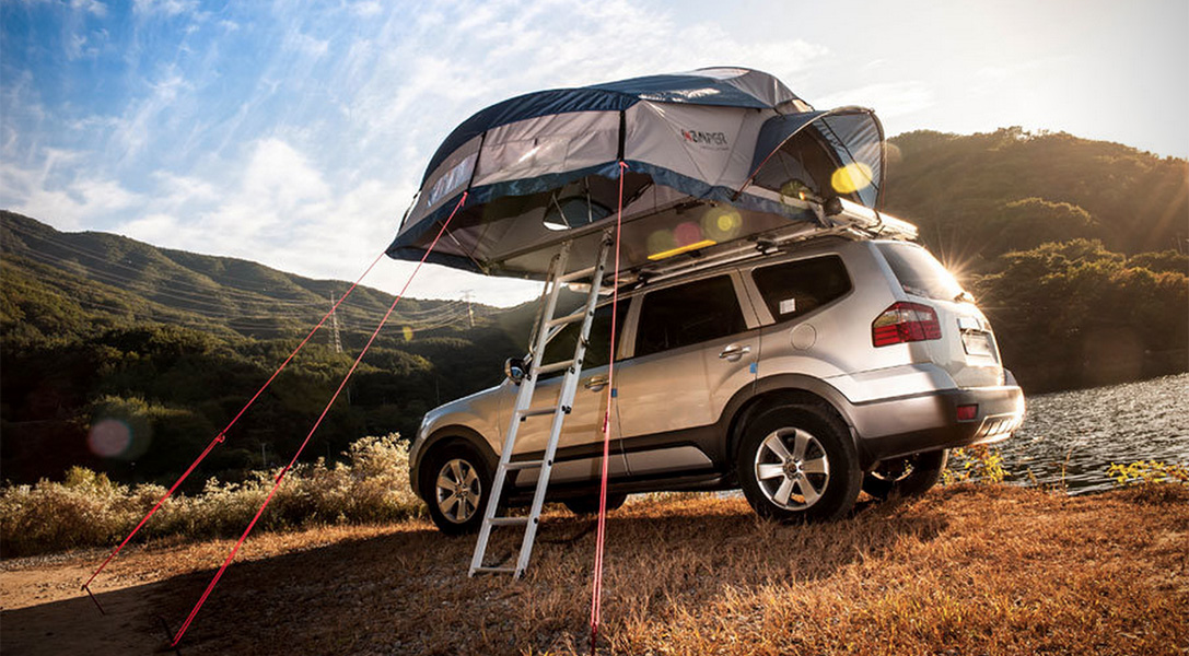 Creator Soon Park took inspiration from Jack Kerouacu0027s seminal novel u0027On the Roadu0027 and his own cross-country journeys initially designing a tent that he ... & Rooftop Camper: Hard Top Pop-Up Tent for Your Vehicle