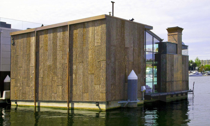 Bark clad Boat House, Seattle
