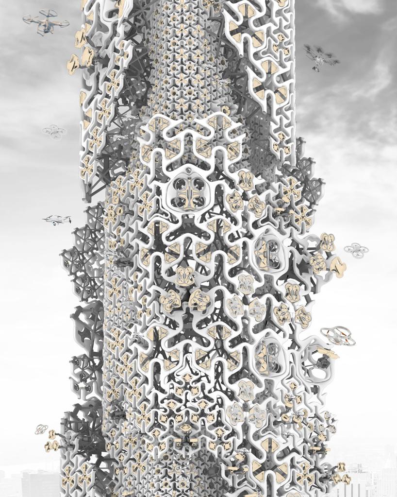 the-hive-drone-skyscraper-rendering-closeup
