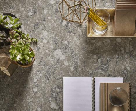 beige quartz counter