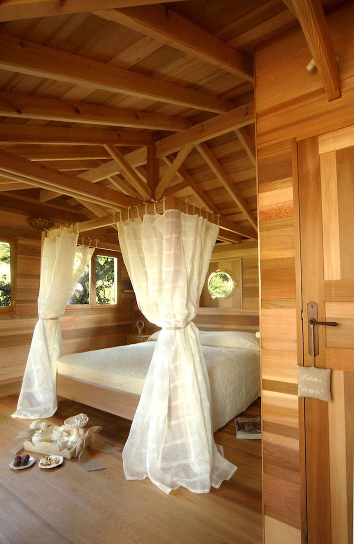 lavender treehouse bed