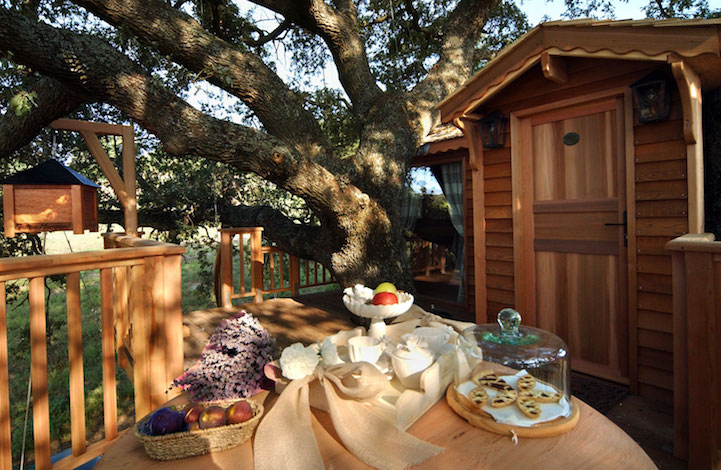treehouse outdoor dining area