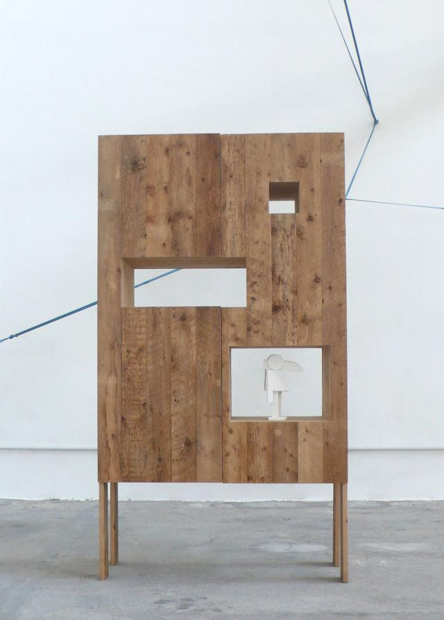 Reveal instead of conceal: A rustic cabinet by Studiomama