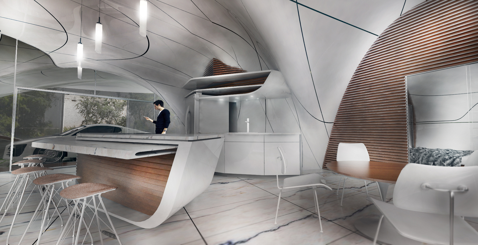 cocoon 3d printed house 4