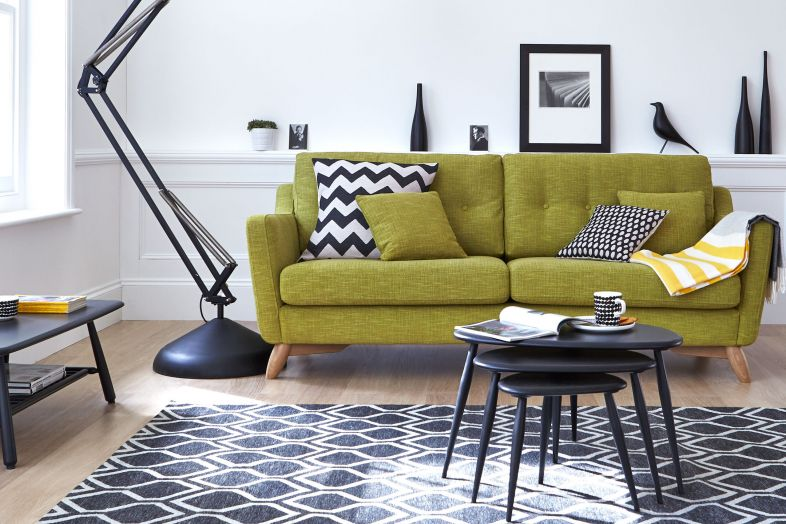 ercol green couch