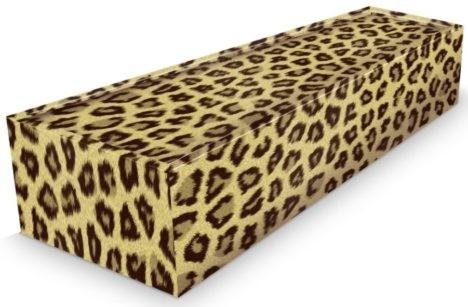 leopard pattern coffin